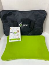 Wii Fit (Nintendo Wii) Balance Board and Game Lot W/ React Carrying Bag