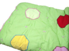 Pottery Barn Kids Green Multi Colors Paige Dots Shape Patch Full Queen Quilt New