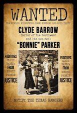 Wanted Bonnie & Clyde Motiv 2 Blechschild Schild gewölbt Tin Sign 20 x 30 cm