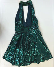 NWT Free People Women's Blue Green Sequin Halter Party Dress 2