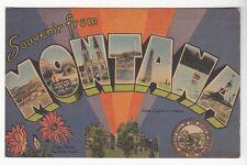 [51095] 1947 Large Letter Postcard Souvenir From Montana