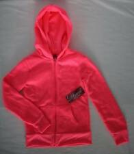 NEW Girls Hooded Zip Jacket Size Small 6 - 6X Bright Pink Top Hoodie Pockets