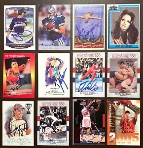 DAN GABLE Olympic Wrestler - Iowa Hawkeyes - 1991 Impel SIGNED / AUTOGRAPH Card