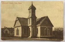 Vintage Postcard 1909 Christian Church Cisco Texas TX PC