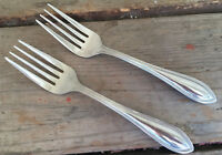 2 Salad Forks Wallace Silver Stainless American Tradition W198 Beaded 20694