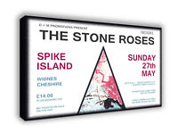 Stone Roses Ian Brown - Spike Island - Wall Canvas Picture Print Wall Art