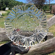 Vintage Federal Glass Saw Tooth Fruit Pattern Glass Platter