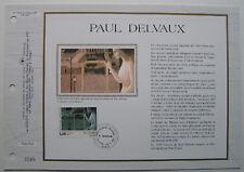 PAUL DELVAUX Feuillet CEF Timbre 1er jour SOIE - 1992