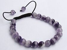 Natural Amethyst Gemstone Men's beaded bracelet February Birthstone 8mm beads