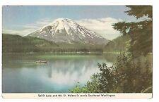 Canoe SPIRIT LAKE MT ST HELENS Southwest WASHINGTON Postcard WA Invites Million