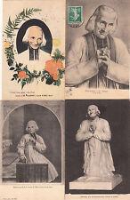 Lot 4 cartes postales anciennes ARS statue portrait du curé 7