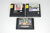 Lot of 3 Sega Genesis Games Sports Talk Baseball NHL 96 Bill Walsh Football