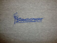 Stratosphere Las Vegas Nevada Vacation Souvenir Trip Gray T Shirt XL / L