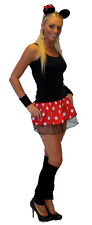 Mini Skirt Polka Dot Minnie Tutu with Head Band Fancy Dress & Mouse Ears