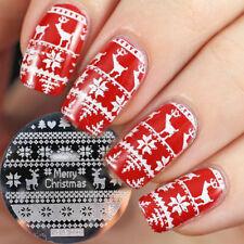 Christmas Nail Art Stamping Plate Snowflake Stamp Images Designs Plates UK Se...