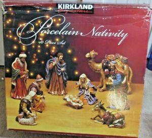 Costco Kirkland Large Porcelain Nativity Set #399707 - 10PC Set - BEAUTIFUL!