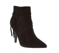 Marc Fisher Suede Pointed Toe Ankle Boots - Fanatic Black Women's Size 5