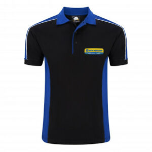 Mens Farming Tractor Farmers Contrast Polo New Holland