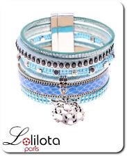 Luxus Breit Leder Armband Ibiza Brasilien Magnetverschluss Wickelarmband Paris