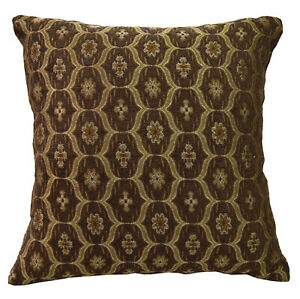 We62 -Olive Brown Eye Flora Damask Bolster Case/Pillow/Sofa Seat Cushion Cover