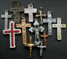 A collection of crucifix's