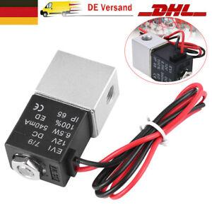 """Magnetventil DC 12V Elektro 1/8"""" Ventil Electric Solenoid Valve Wasser Luft NEU"""