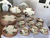 Vintage -Franciscan -Apple Pattern Dinnerware  45 pc - USA California