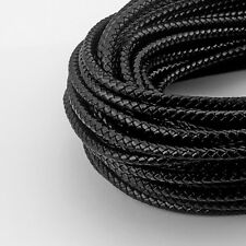 6mm Round Bolo Braided Real Genuine Leather Cord for Necklace Bracelet Thong