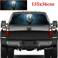 Car Rear Window Night Terror Cross Resurrection Moon Sky Sticker Graphics 135x36