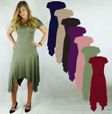 Viscose Short Sleeve Dresses for Women with Fit & Flare