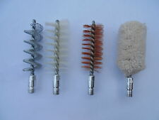 shotgun cleaning brush, 10/12ga, spiral, brass, nylon and mop
