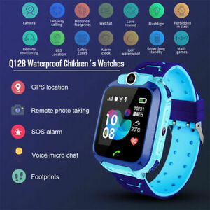 Waterproof Kids Smart Watch Anti-lost Safe GPS Tracker For Android iOS SOS Call