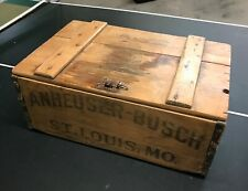 1917 Pre Prohibition Anheuser-Busch Wooden Beer Crate - Rare Bevo Variation