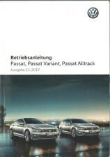 VW PASSAT + PASSAT VARIANT + ALLTRACK B8 2017 2018 Betriebsanleitung Handbuch BA