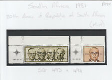South Africa 1981  20th Anniversary of the Republic SG 493 & 494 Mint PA22