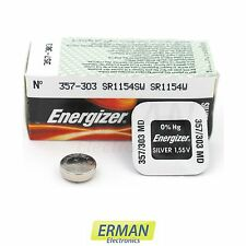 Batteria per orologio Energizer 357 HD - 303 - SR 44/SR 1154 SW da 1.55V pila 35