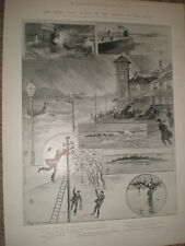 The Floods on the Clyde Ralph Cleaver 1903 old prints ref X