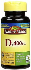 Nature Made Vitamin D3 400 I.u 100-Count