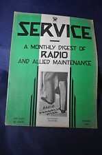 August 1933 Service Magazine Monthly Digest of Radio and Allied Maintenance