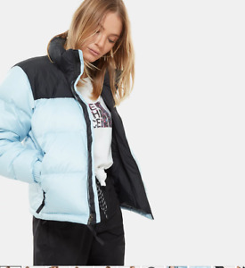 New The North Face 1996 Nuptse 700 Down Puffer jacket Women's Angel Fall Blue M