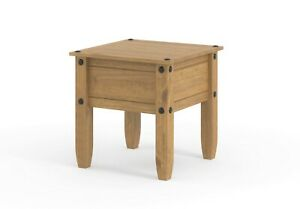 Lamp Table Corona Mexican Pine Occasional Coffee Side End Table