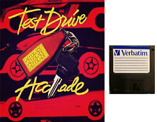 """TEST DRIVE :  floppy disc 3,5"""" Commodore Amiga backup game disk (READ)"""