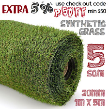 5 SQM Synthetic Fake Plant Grass Lawn Flooring Olive Plastic Artificial Turf