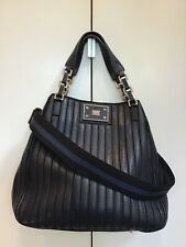 Lovely Anya Hindmarch Belvedere Tote In Navy Blue Leather And Suede