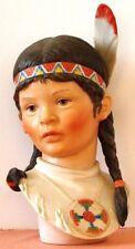 EUC Signed CYBIS Native American INDIAN  Porcelain RUNNING DEER Sculpture 1975