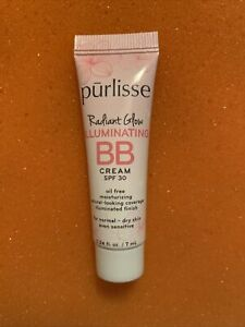 Purlisse Beauty Radiant Glow Illuminating BB Cream SPF 30 MEDIUM Travel Sz .24oz