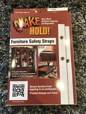 Quake Hold! Furniture Safety Straps Kit White Brand New In Box