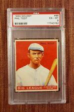 1933 Goudey #86 Phil Todt St. Paul Saints Original Baseball Card PSA 7 RC