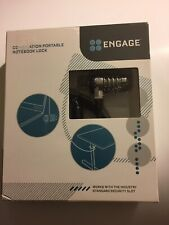 *New* ~ Engage - Combination Portable Notebook Lock - 5 Ft Steel Cable