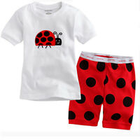 Toddler Kids Boys Summer Short Sleeve T-shirt Tops Tee Shorts Outfit Set Clothes